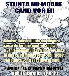 Miting pentru echipa de fotbal Universitatea Craiova