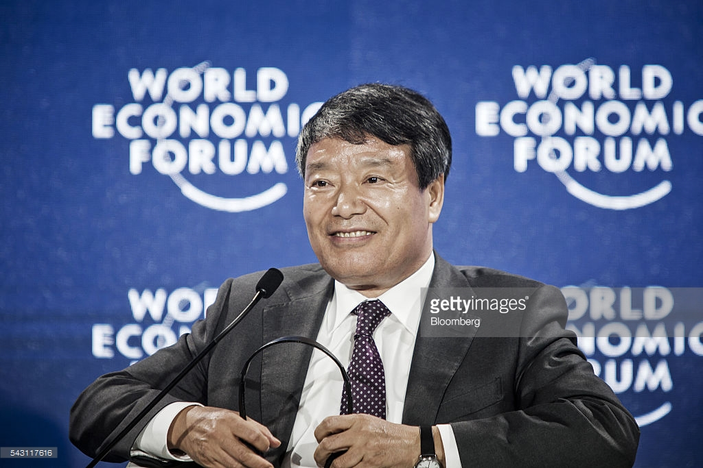 Xu Shaoshi, chairman of the National Development and Reform Commission (NDRC), speaks during an interview on the sidelines of the World Economic Forum (WEF) Annual Meeting of the New Champions in Tianjin, China, on Sunday, June 26, 2016. The meeting runs through June 28. Photographer: Qilai Shen/Bloomberg