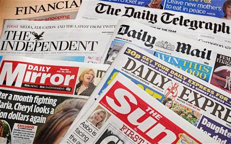 BP4CTJ UK Newspapers