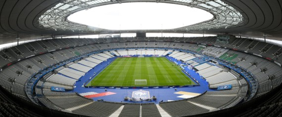 A picture taken on March 28, 2016 shows a general view of the Stade de France  in Saint-Denis, north of Paris.  uilt for the World Cup 1998, Stade de France can hold 80,000 spectators. France stadium will host matches of the Uefa Euro 2016, including the opening game on June 10 and the final on 10 July.  / AFP PHOTO / FRANCK FIFE