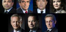 Jean-François Copé, François Fillon, Alain Juppé, Nathalie Kosciusko-Morizet, Bruno Le Maire, Jean-Frédéric Poisson et Nicolas Sarkozy.
