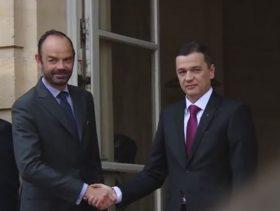 Premierul Grindeanu+Edouard Philippe