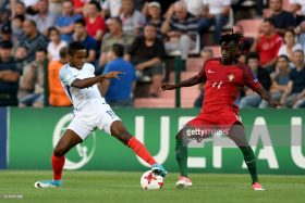 of England during the UEFA European Under-19 Championship Final between England and Portugal on July 15, 2017 in Gori, Georgia. Levan Verdzeuli