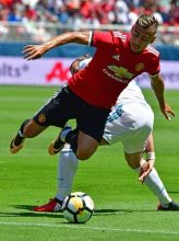 Soccer Football - Real Madrid vs Manchester United - International Champions Cup - Santa Clara, USA - July 23, 2017   Manchester United's Andreas Pereira in action against Real Madrid's Gareth Bale   REUTERS/Alan Greth