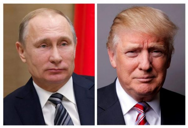 FILE PHOTO: A combination of file photos showing Russian President Vladimir Putin at the Novo-Ogaryovo state residence outside Moscow, Russia, January 15, 2016 and U.S. President Donald Trump posing for a photo in New York City, U.S., May 17, 2016. REUTERS/Ivan Sekretarev/Pool/Lucas Jackson/File Photos       TPX IMAGES OF THE DAY - RTS14Q0M