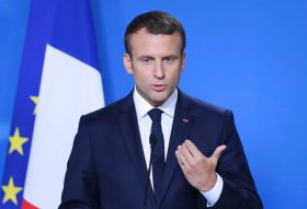 BRUSSELS, BELGIUM - JUNE 22 : French President Emmanuel Macron speaks during a press conference after the European Union (EU) leaders summit at the Europa building in Brussels, Belgium, on Thursday, June 22, 2017. Dursun Aydemir / Anadolu Agency