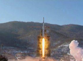 CORRECTION North Korea Rocket Launch