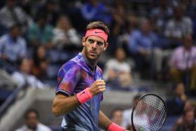 September 6, 2017 - Juan Martin del Potro in action against Roger Federer in a men's singles quarterfinal match at the 2017 US Open.